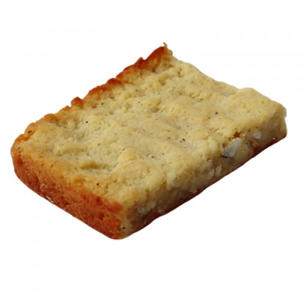 Cassava cake with coconut (piece)